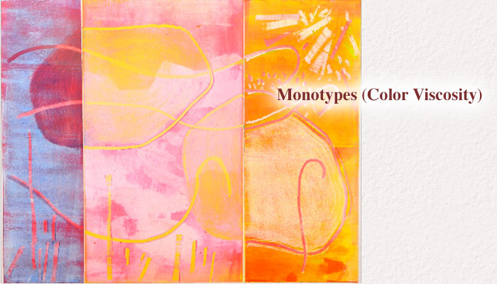 Monotypes (Color Viscosity) - Estelle Laschever