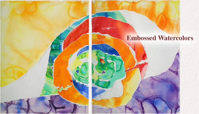 Embossed Watercolors - Estelle Laschever